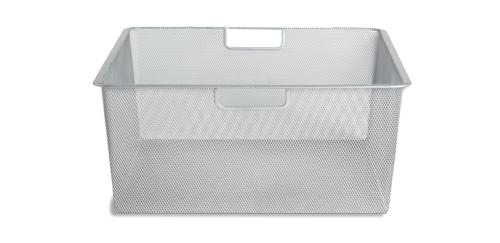 45cm x 54cm Platinum Elfa Mesh Basket - Medium