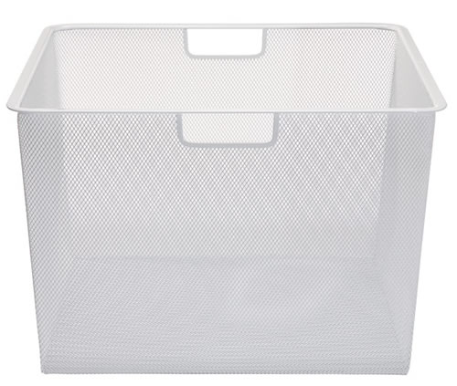55cm x 54cm White Elfa Mesh Basket - Deep