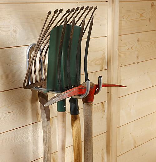 Double garden tool hanger