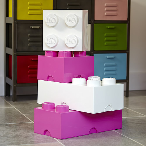 Giant LEGO storage block bundle pinks and whites