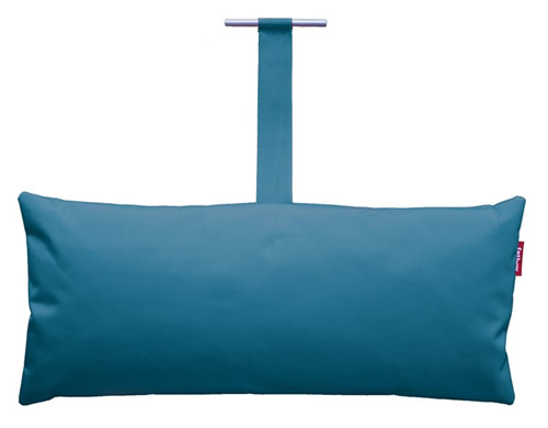 Headdemock pillow from Fatboy in petrol blue -Shop online or come shop in our Chester Store