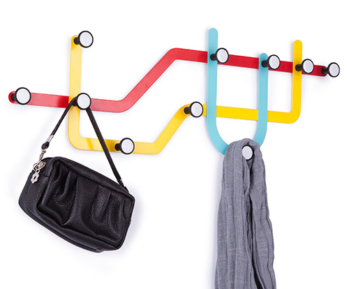 Subway shaped coat hook