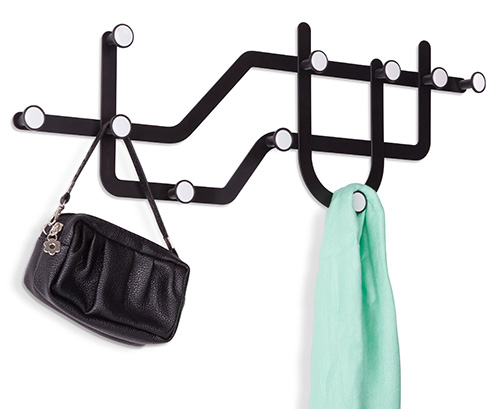 Funky Coat Hangers subway coat hook - coat hooks | coat racks | handbag hooks | key
