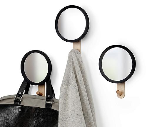Hub mirror and storage hook