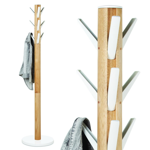 Flapper coat stand with 9 hooks