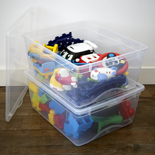 Gentil Clear Plastic Toy Storage Box With Lid
