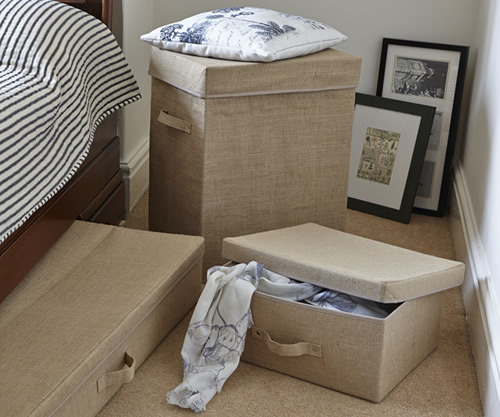 Large Hessian Storage Box