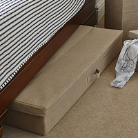 Hessian Underbed Storage Chest - Large