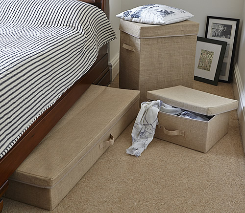 Hessian underbed storage chest