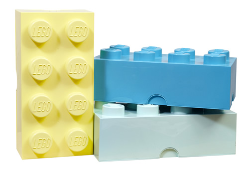 Giant LEGO storage block bundle - design colours