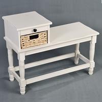 Antique Cream Telephone Table