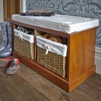 2 Basket Storage Bench