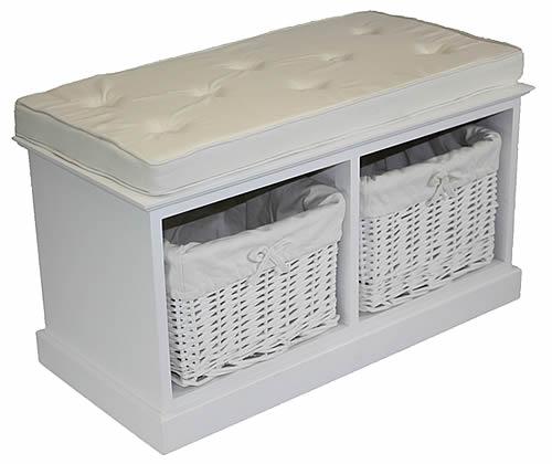 2 Basket Storage Bench