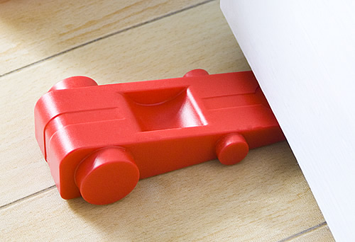 Car shaped rubber door stop from J-Me