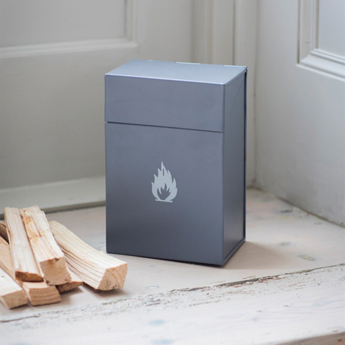 Metal firelighter storage case