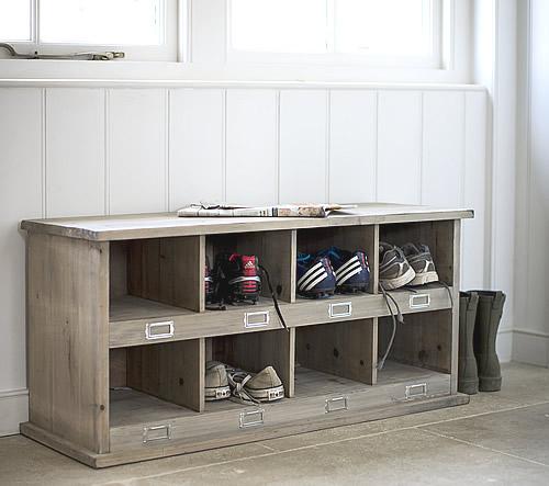 Spruce wood shoe storage locker