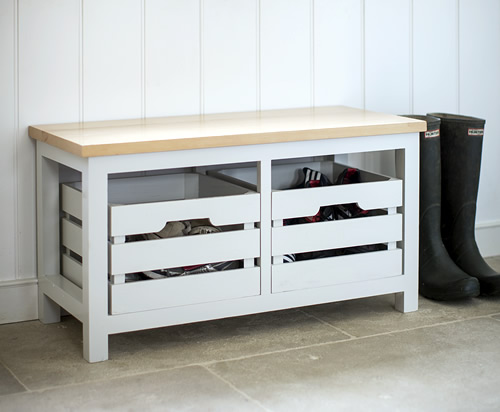 Emsworth Storage Bench with Crates - Shoe Cupboards | Shoe Storage ...