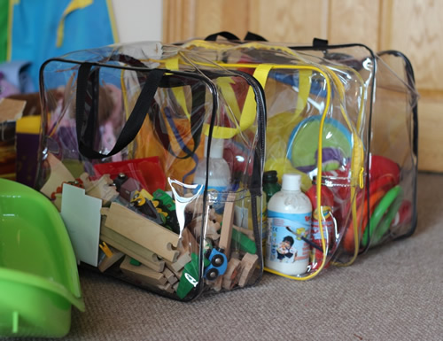 Clear Toy Storage Bags