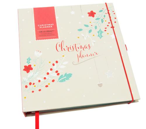 Hardback Christmas planner folder