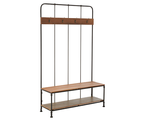 Hallway Bench and Coat Stand - Foundry