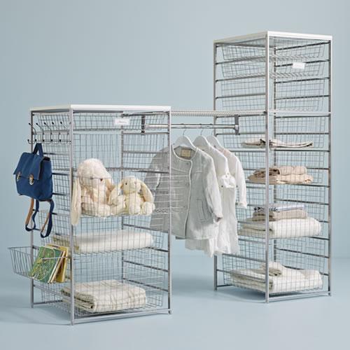 Elfa basket tower and shelf best selling solution