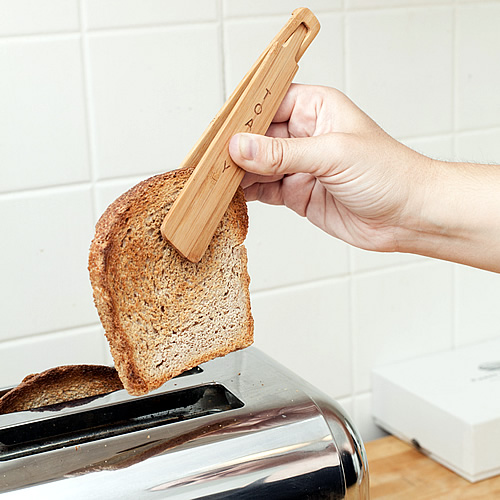 Bamboo Toasty Tongs