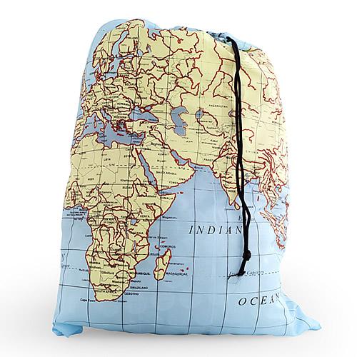 Travel Laundry Bag - World Map