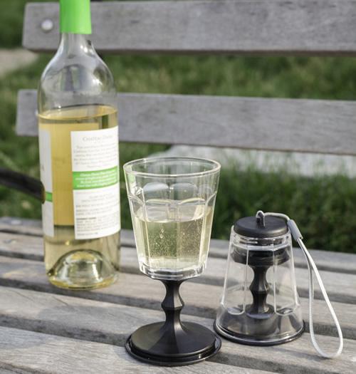 2 x Pack-Away Travel Wine Glasses