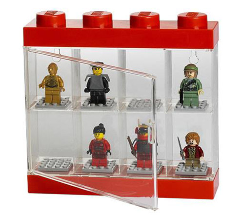 LEGO Minifigure display case in red - small