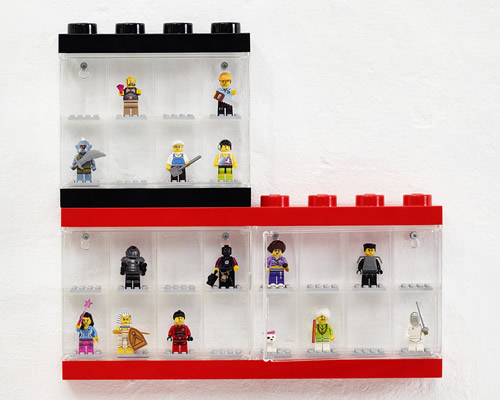 Black Small LEGO Storage 8 Minifigure Display Case