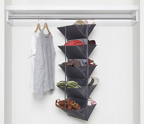 Double sided hanging shoe organiser