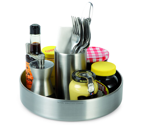 Stainless steel counter top organiser - Conran Lazy Susan