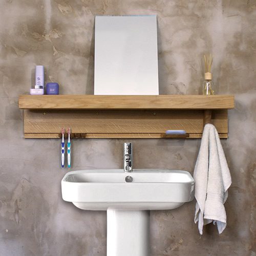 Solid wooden bathroom storage shelf - Shelfie