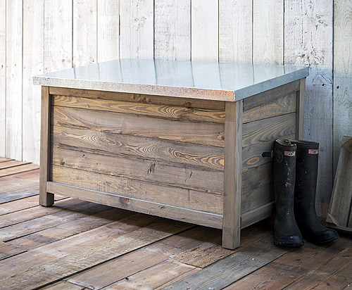 Large wooden outdoor storage box