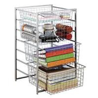 Elfa Starter Basket Kit - Platinum