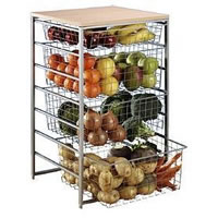 Elfa Starter Basket Kit - Platinum inc. Topboard