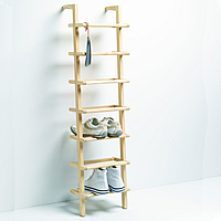 wooden ladder shoe rack tall - Vertical Shoe Rack