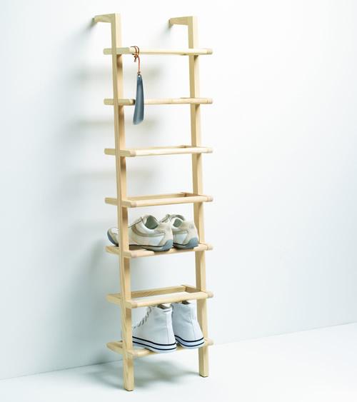 Wooden Ladder Shoe Rack - Tall - Shoe Racks | Shoe Storage Shelves ...