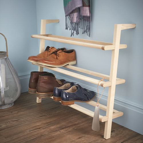 Ash wood shoe rack - Schon Anders Schuhregal Gaston