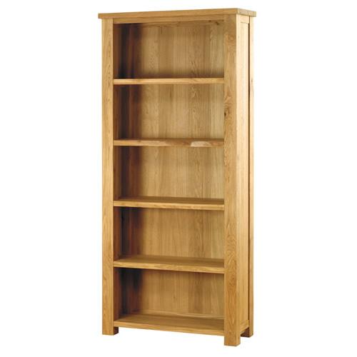 Large Open Oak Bookcase - Aston