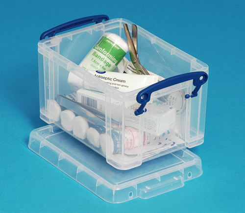 1.6 litre plastic storage box with clip close lid - Really Useful Boxes RUB