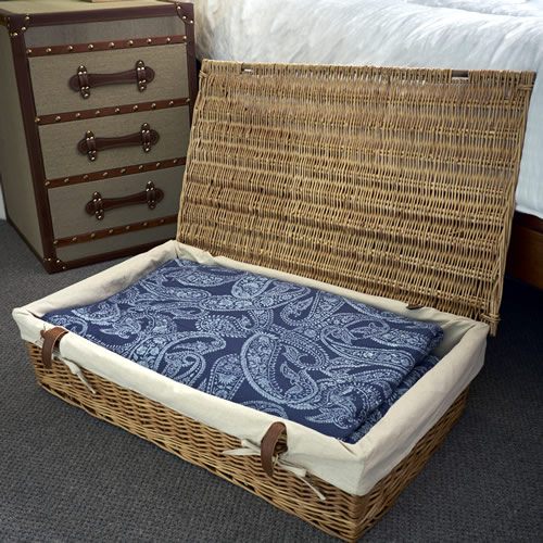 Store Underbed Storage Basket Lined Willow