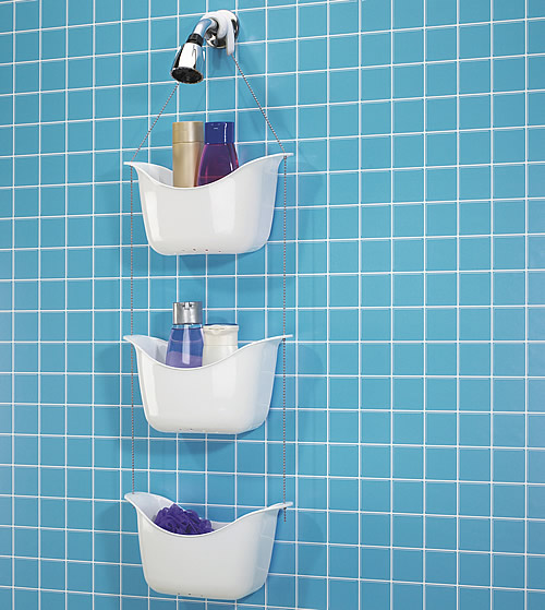 Plastic 3 tier shower caddy