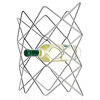 8-Bottle Stainless Steel Wine Rack - Web