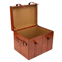 Buffalo Leather Storage Trunk - Large