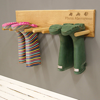 Handmade Solid Oak Welly Rack - Personalised