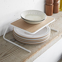 Scandi Cupboard Plate Stacking Shelf - Small