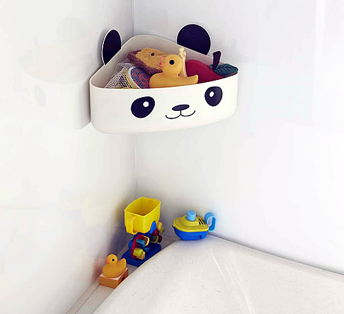 Suction Mounted Bath Toy Storage Corner Caddy