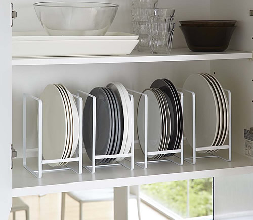Cupboard Plate storage rack