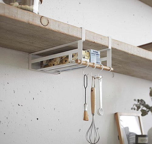 Store under shelf storage rack scandi for Under cabinet storage racks